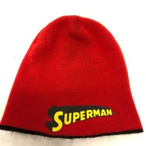 Two way west Superman beanie hat adult